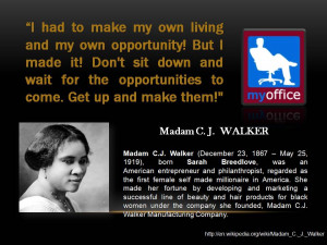 Madam C J Walker Quotes