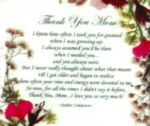 Thank You Mom Say thank you mom with a timeless floral plaque