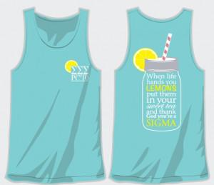 Tri Sigma, when life gives you lemons spring break tank: Shirts Ideas ...