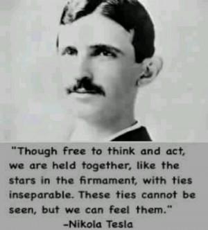 Nikola Tesla quote ...Nikolai Tesla, Tesla Quotes, Famous Quotes ...