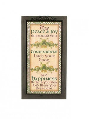Irish Blessings Framed Sign - Irish Plaques And Signs.
