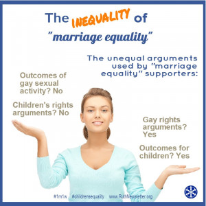 note since equality is paramount for marriage equality supporters next ...