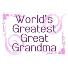 World's Greatest Great Grandma Poster