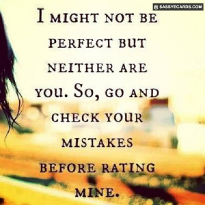 No One Is Perfect - #Perfect, #Quote