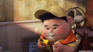 Pixar Up Russell Badges Russell: oh we're in south