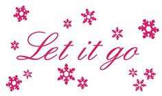 Let it go Wall Quote & Snowflake Decal Set from Frozen Movie Drama ...