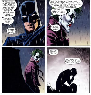 joker, too, late, rehabilitate, batman, alone, cry, The, killing, joke ...