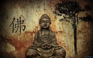 stone statue of Gautama buddha