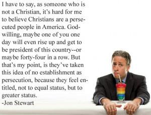 Jon Stewart On Christian Victimhood In America Picture