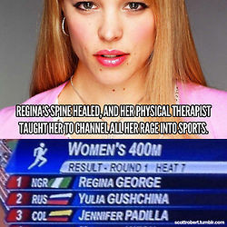 Mean Girls Regina George meme olympics