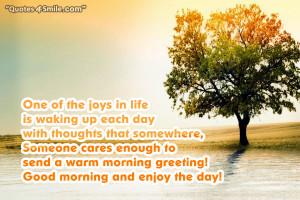 Warm Morning Greeting