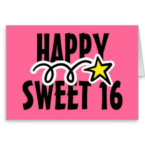 Happy Birthday Card For Sweet Sixteen (16)