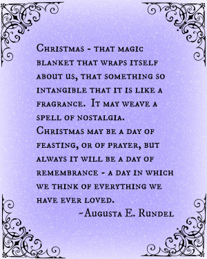 Christmas Advent Calendar Quote 18 - Augusta E. Rundel