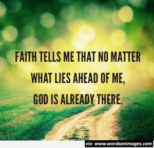 Faith in god quote