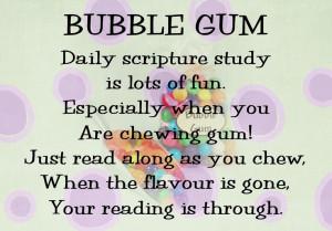 Camps Ideas, Lds Bubble Gum Quote, Gum Daily Scriptures, Church Ideas ...
