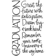 Graduation by Wordsworth. More