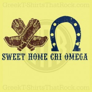 Sweet Home Chi Omega. Buy your sorority bid day, recruitment, and ...