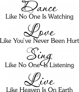 Dance-Love-Sing-Live-wall-Vinyl-Sticker-Decal-quote-Decor-Large-Quotel ...