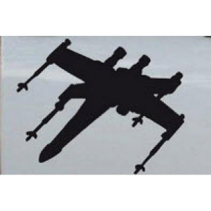 Star Wars X-Wing Fighter Silhouettes 11x8 inches (one right and one ...