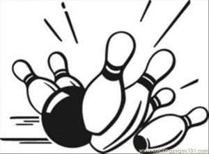 free printable coloring page Bowling Pins (Sports > Bowling)