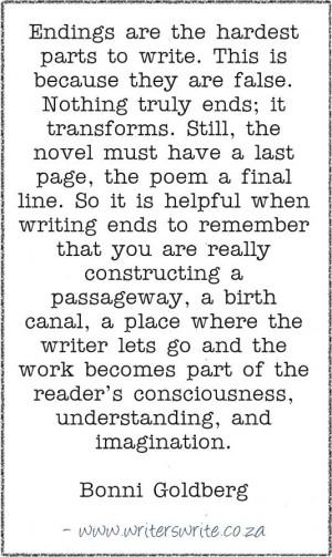 Writing Quote – Bonni Goldberg
