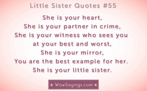 Little Sister Quotes #55 at WowSayings.com