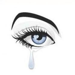 Tears fall. It's OK.