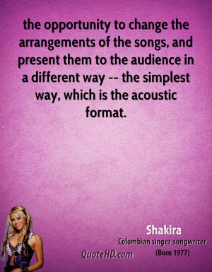 Songs From Shakiras Quote