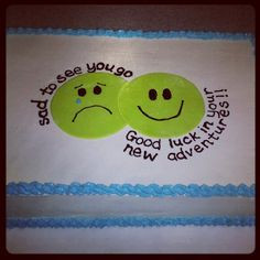 Going Away Party Cake Ideas Going away cake by bake my day