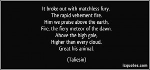 It broke out with matchless fury. The rapid vehement fire. Him we ...