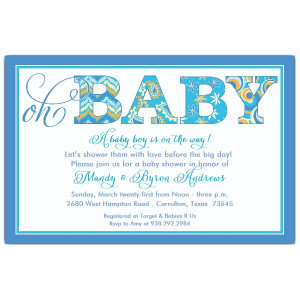 Baby Boy Shower Invitations For...