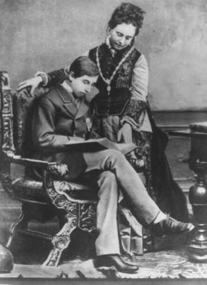 Prinz Wilhelm sebagai pelajar sekolah dalam foto dari tahun 1874