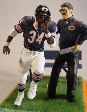Coach Ditka sends Walter Payton onto the field.
