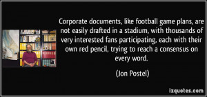 Corporate documents, like football game plans, are not easily drafted ...