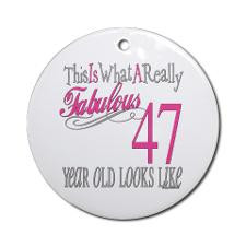47th Birthday Gifts Ornament (Round) for