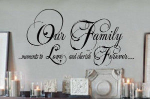 family moments vinyl wall lettering words sticky art home decor quotes ...