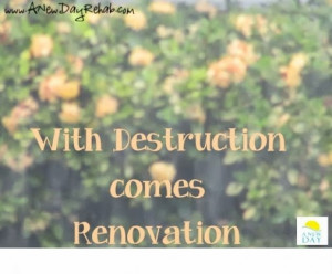... destruction comes renovation.