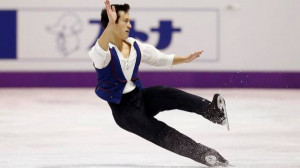 Patrick Chan of Canada falls as he performs his men's free program at ...