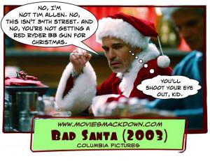Bad Teacher (2011) -vs- Bad Santa (2003)