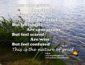 saturday s sayings the nature of grief and healing