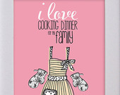 Print Cooking with Love Family Sayings 5