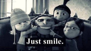 Just smile quotes black and white movies despicable me