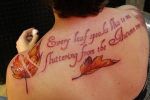 24 fall leaves quote