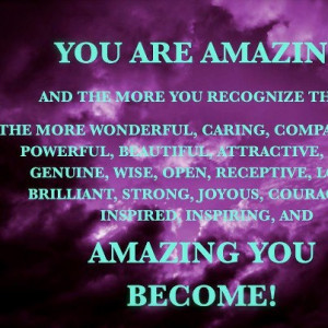 you are amazing inspiration