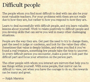 Difficult people - words to live by for all the shortsighted people in ...