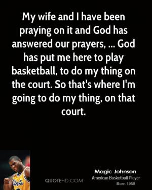 Magic Johnson Wife Quotes