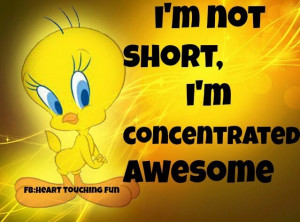not short, I'm concentrated Awesome!