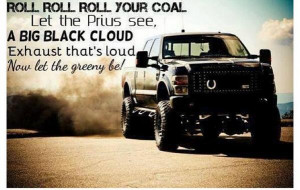 Jacked Up Trucks with Smoke Stacks