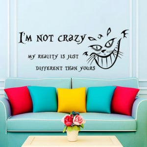 Wall Decals Quotes Alice in Wonderland Wall Decal Quote Cheshire Cat