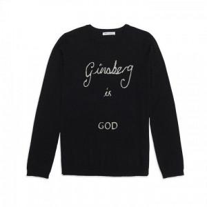 Bella Freud | Ginsberg Is God Jumper - Black & Ivory - Women - Shop ...